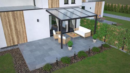Terrassendach mit Polyeindeckung